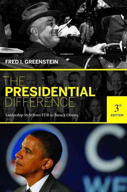 The Presidential Difference By Greenstein, Fred I.
